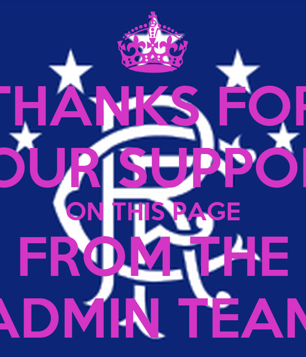 THANKS FOR YOUR SUPPORT ON THIS PAGE FROM THE ADMIN TEAM