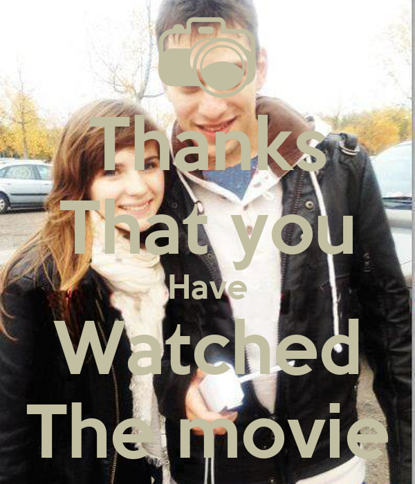 Thanks That you Have Watched The movie