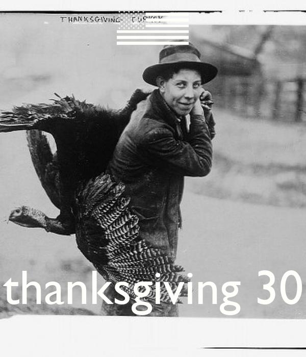 thanksgiving 30