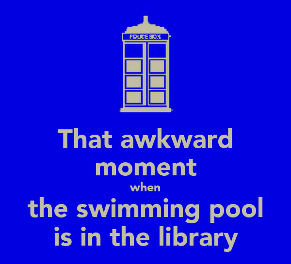 That awkward moment when the swimming pool is in the library