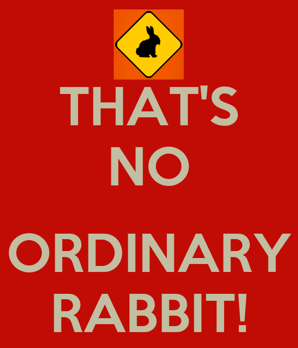 THAT'S NO  ORDINARY RABBIT!