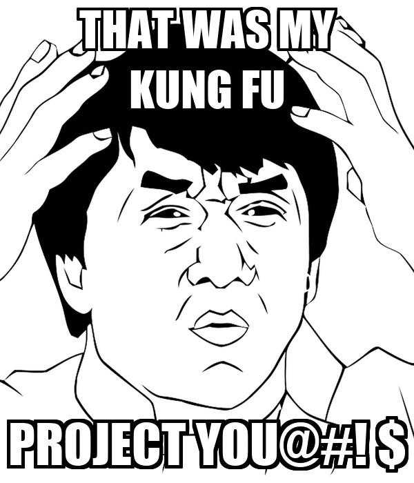 THAT WAS MY KUNG FU PROJECT YOU@#! $