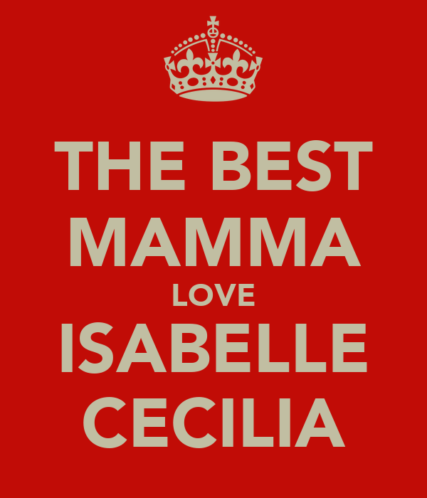 THE BEST MAMMA LOVE ISABELLE CECILIA