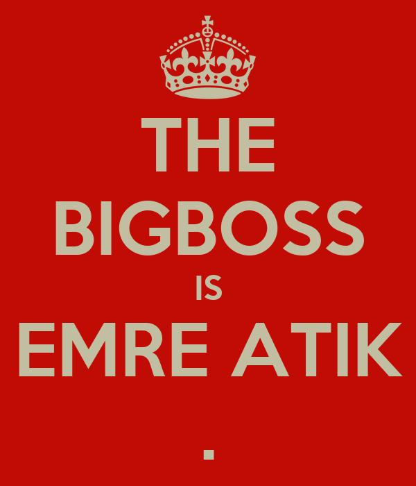 THE BIGBOSS IS EMRE ATIK .