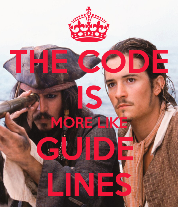 THE CODE IS MORE LIKE GUIDE  LINES