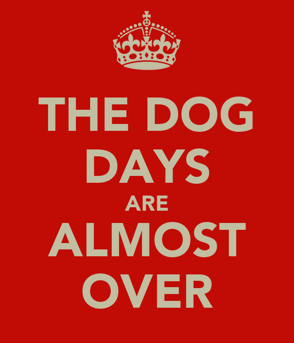 THE DOG DAYS ARE ALMOST OVER