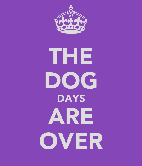 THE DOG DAYS ARE OVER