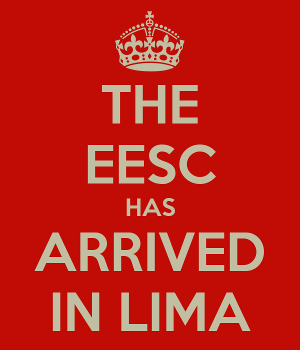THE EESC HAS ARRIVED IN LIMA
