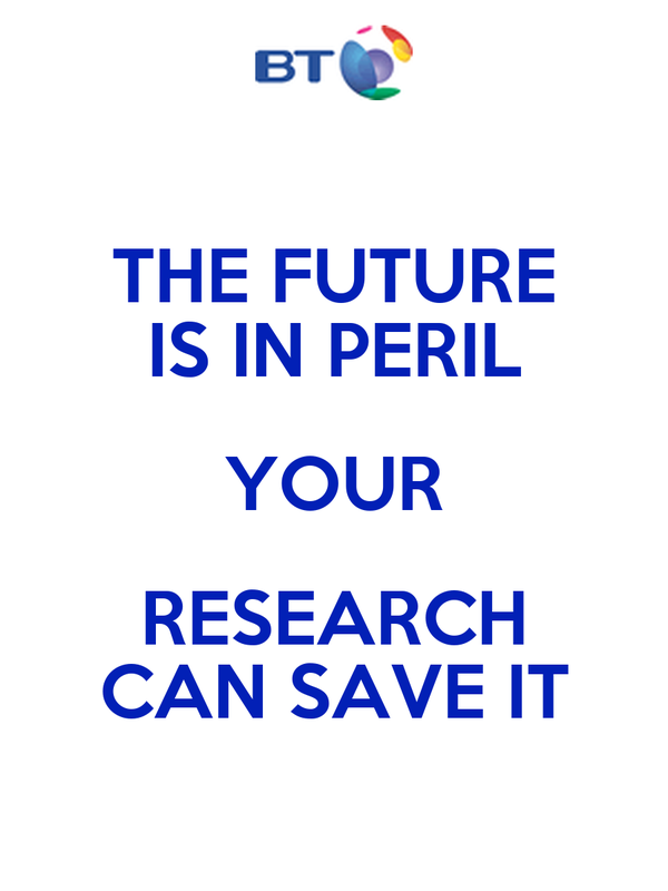 THE FUTURE IS IN PERIL YOUR RESEARCH CAN SAVE IT