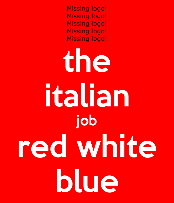the italian job red white blue