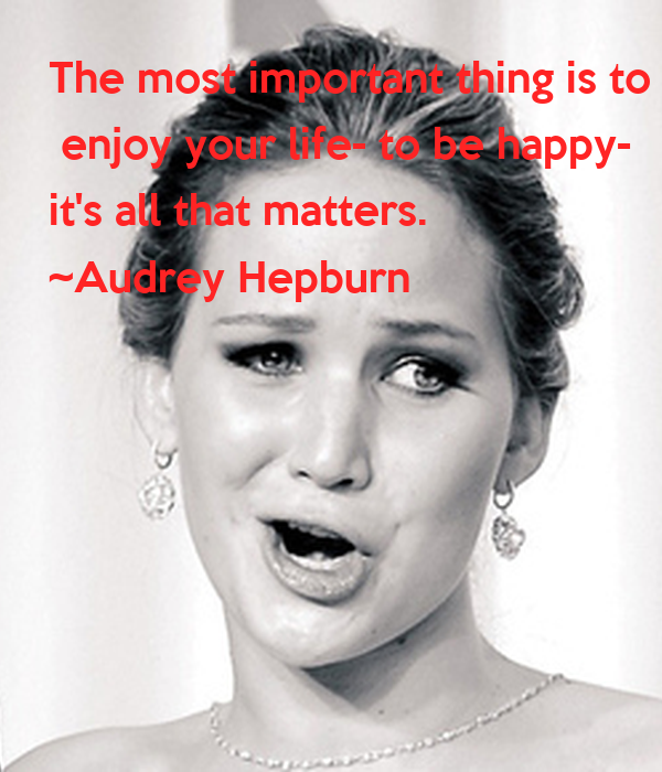 The most important thing is to