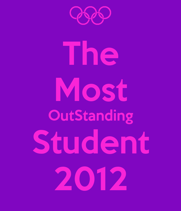 The Most OutStanding Student 2012