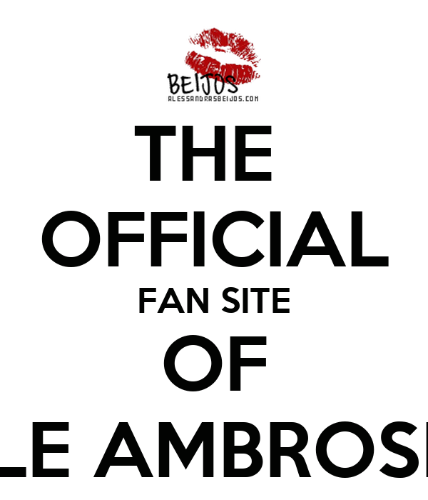 THE  OFFICIAL FAN SITE OF ALE AMBROSIO