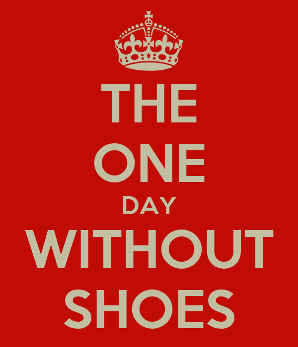 THE ONE DAY WITHOUT SHOES