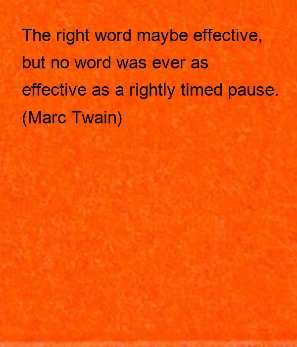 The right word maybe effective, 