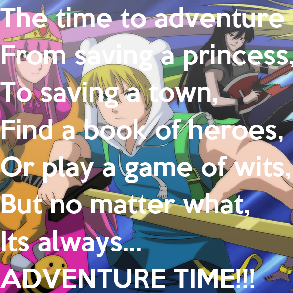 The time to adventure is now,