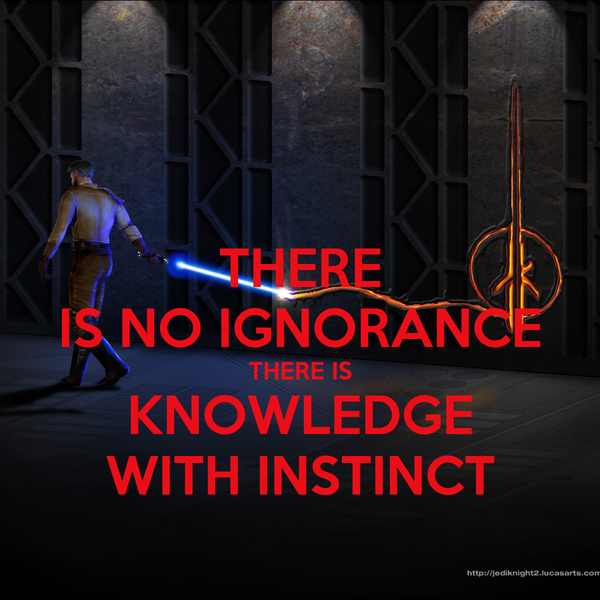 THERE IS NO IGNORANCE THERE IS KNOWLEDGE WITH INSTINCT