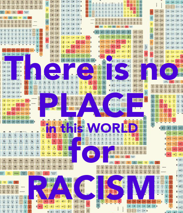 there is no place in the world for racism He told the world sport presents racism in football  that there was no on-field racism in football  no program in place to tackle racism.