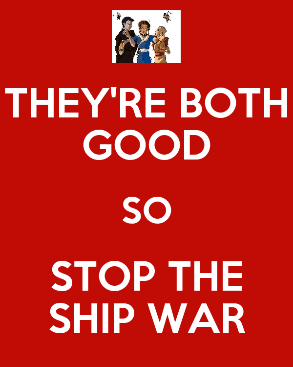 THEY'RE BOTH GOOD SO STOP THE SHIP WAR
