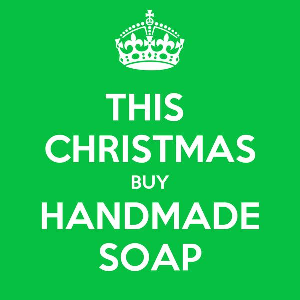 this christmas buy handmade soap poster celine blacow