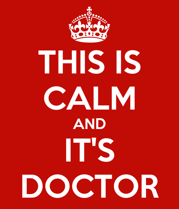 THIS IS CALM AND IT'S DOCTOR
