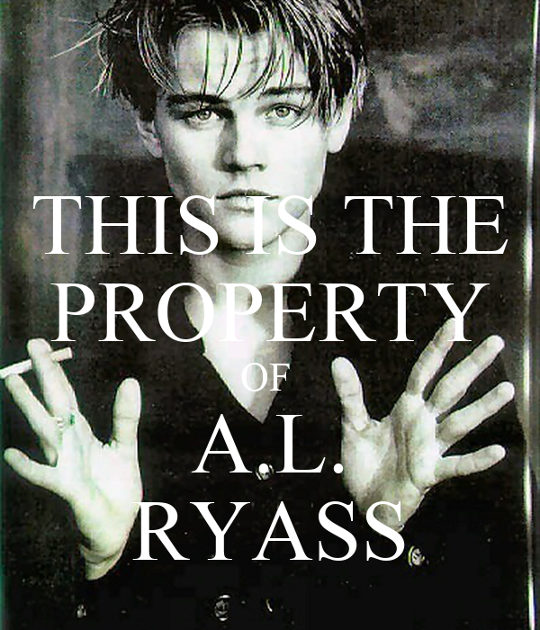 THIS IS THE PROPERTY OF  A.L. RYASS