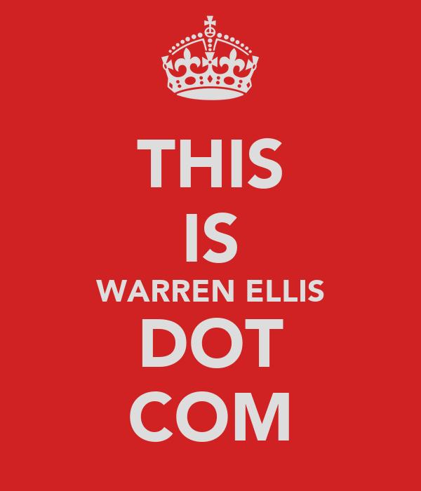 THIS IS WARREN ELLIS DOT COM