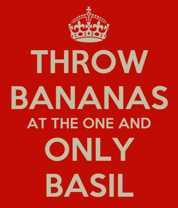 THROW BANANAS AT THE ONE AND ONLY BASIL
