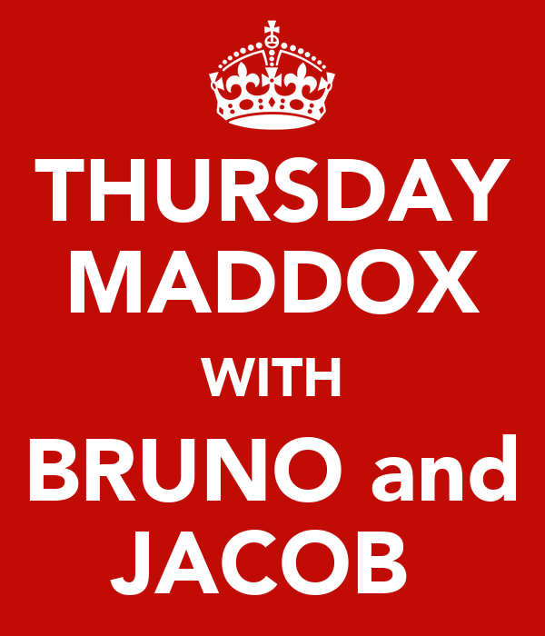 THURSDAY MADDOX WITH BRUNO and JACOB