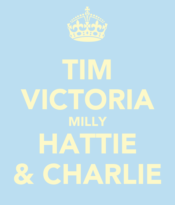 TIM VICTORIA MILLY HATTIE & CHARLIE