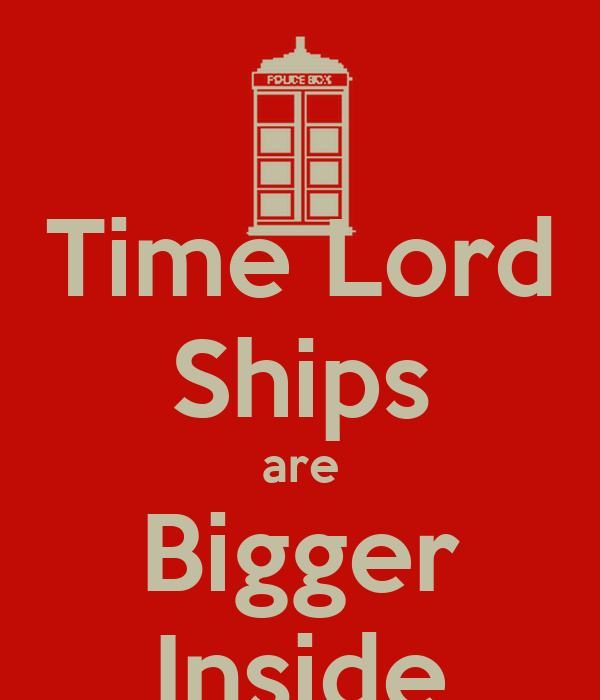 Time Lord Ships are Bigger Inside