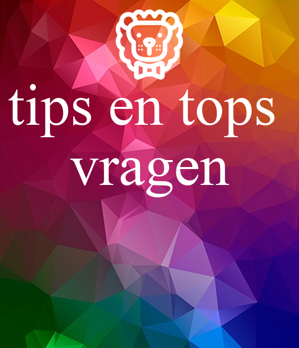 tips en tops vragen Poster | k