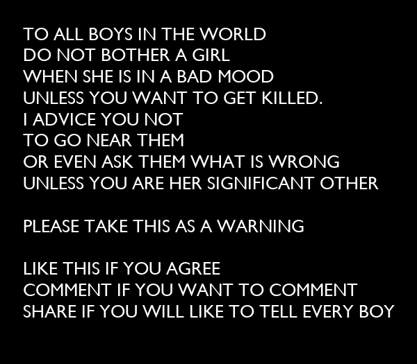 TO ALL BOYS IN THE WORLD