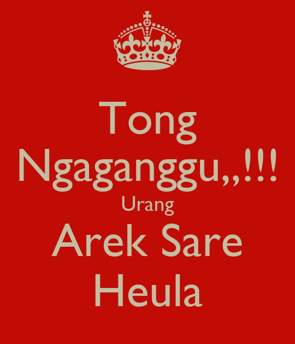 Tong Ngaganggu,,!!! Urang Arek Sare Heula