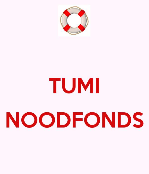 TUMI  NOODFONDS