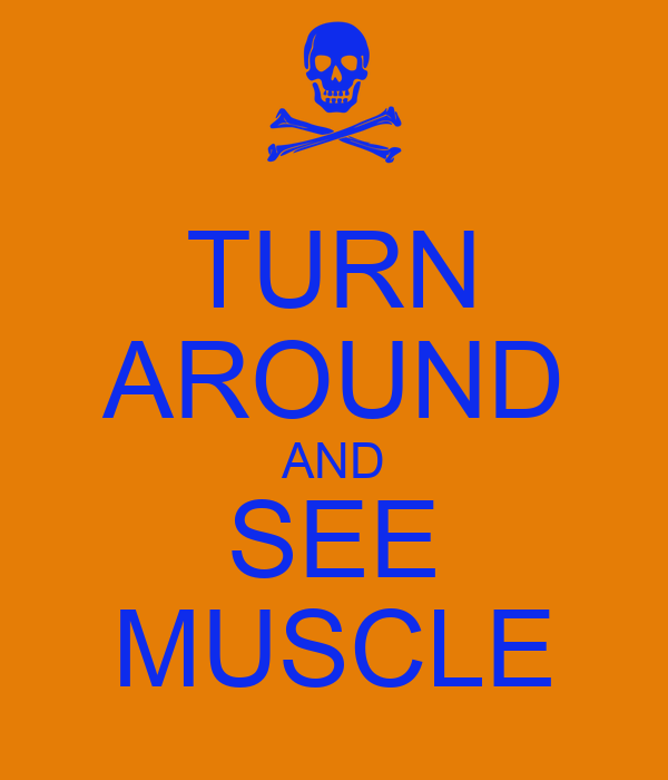TURN AROUND AND SEE MUSCLE