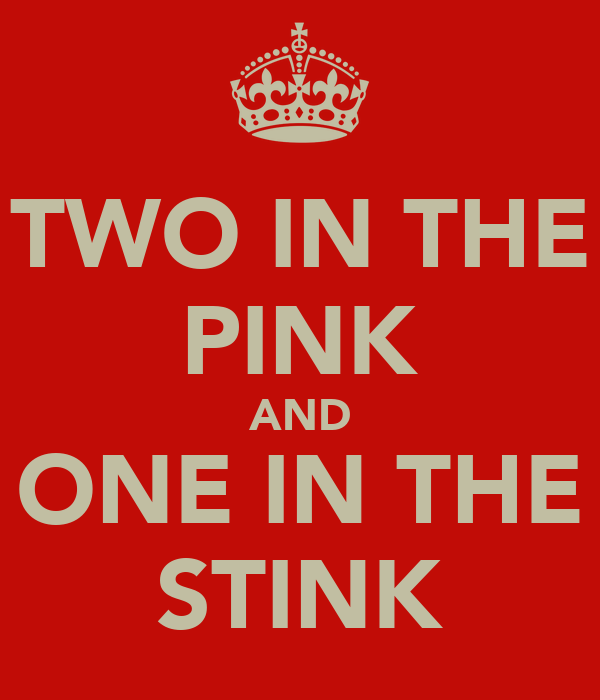 TWO IN THE PINK AND ONE IN THE STINK
