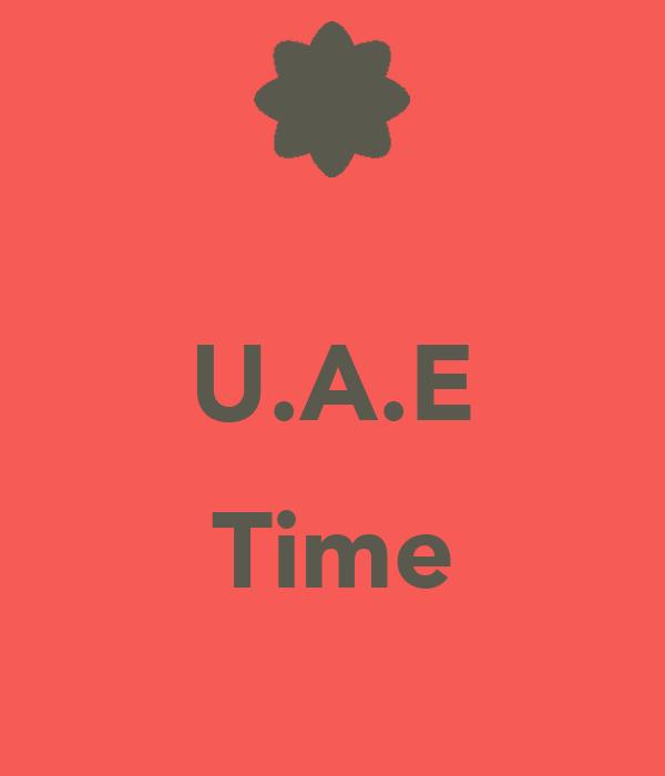 U.A.E  Time