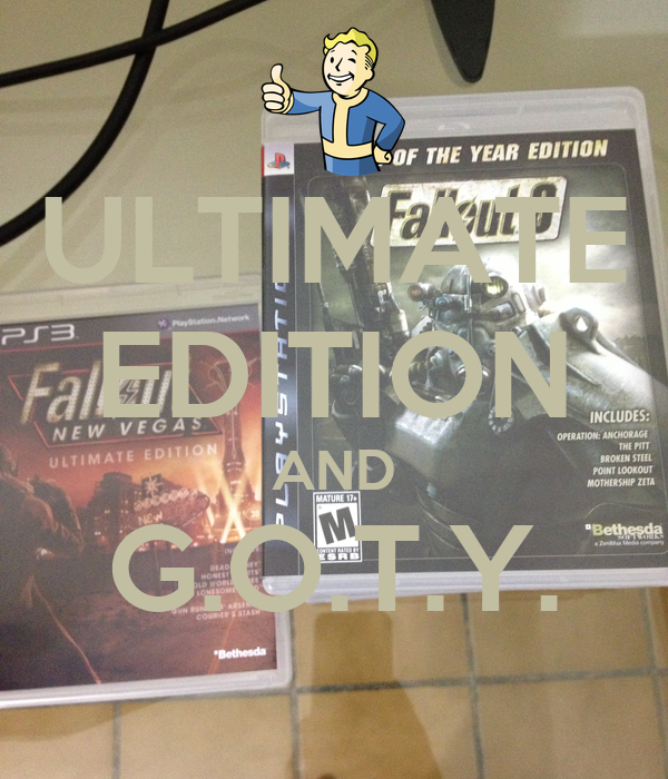 ULTIMATE EDITION AND G.O.T.Y.