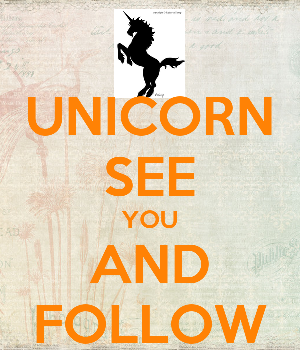 UNICORN SEE YOU AND FOLLOW