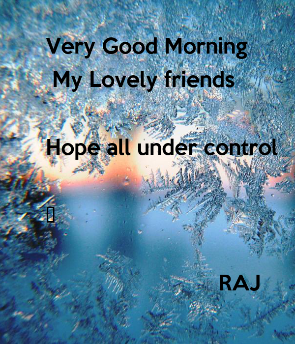 Very Good Morning 