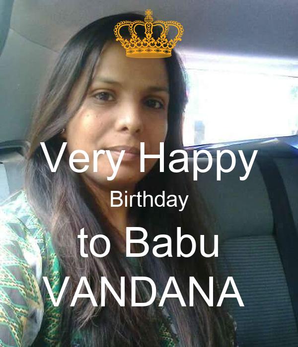 Very Happy Birthday to Babu VANDANA