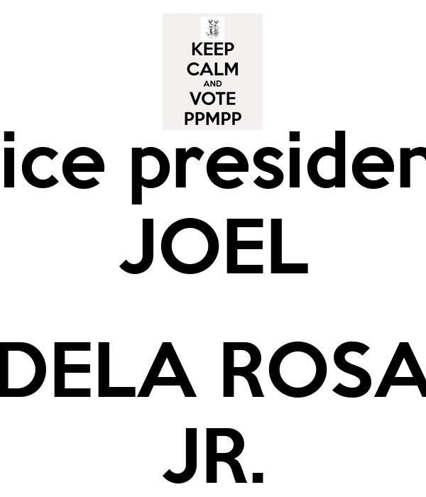 vice president JOEL  DELA ROSA JR.