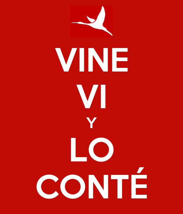 VINE VI Y LO CONTÉ
