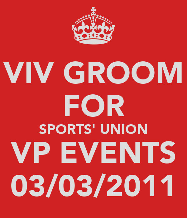 VIV GROOM FOR SPORTS' UNION VP EVENTS 03/03/2011