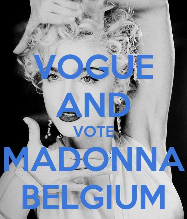 VOGUE AND VOTE MADONNA BELGIUM