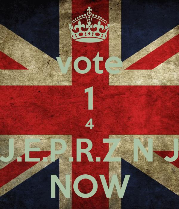 vote 1 4 J.E.P.R.Z N J NOW