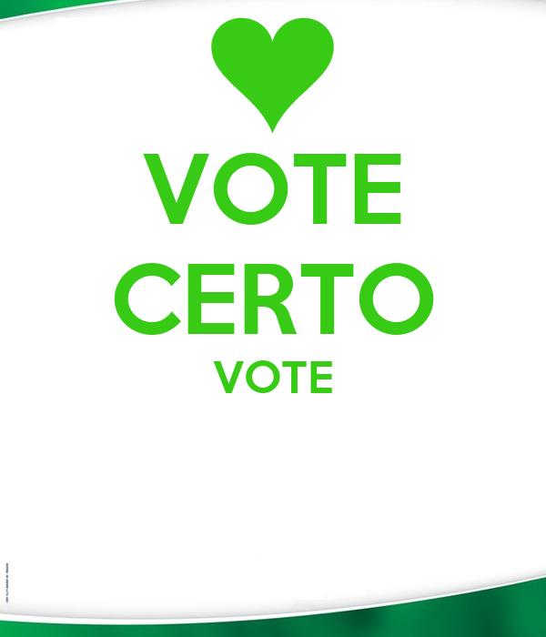 VOTE CERTO VOTE