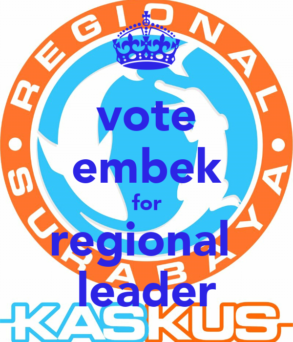 vote embek for regional  leader
