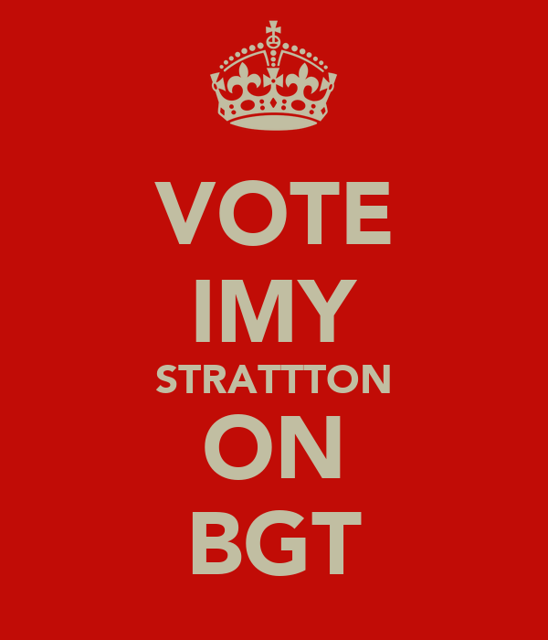 VOTE IMY STRATTTON ON BGT